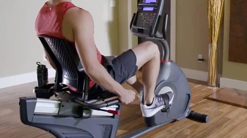 Exercising in bike