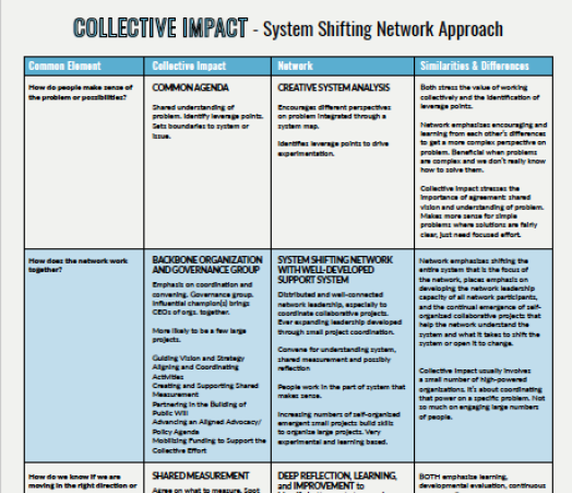 system shifting network approach