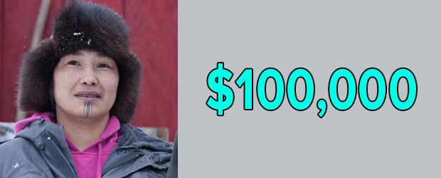 Life Below Zero cast Agnes Hailstone's net worth is $100,000 as of 2018