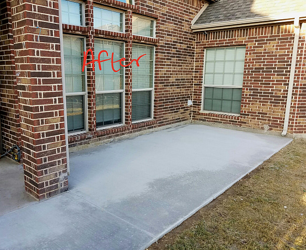 we finally extended our concrete patio