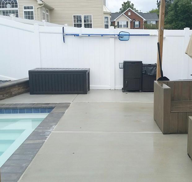 seamless extension of concrete patio