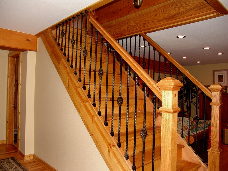 Iron Stair Baluster Installation Networx | Replacing Stair Railing And Spindles | Paint | Newel Post | Iron Spindles | Wood Balusters | Stair Treads
