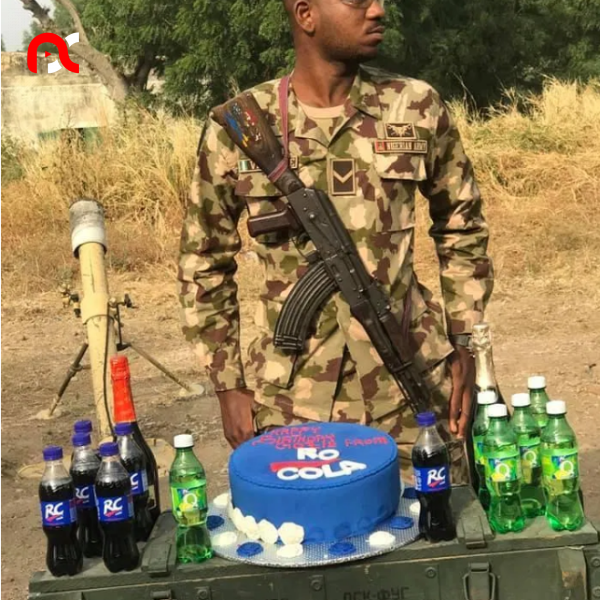 Nigerian Soldier Who Celebrated His Birthday With Bread Gets A Surprise Gift From RC Cola