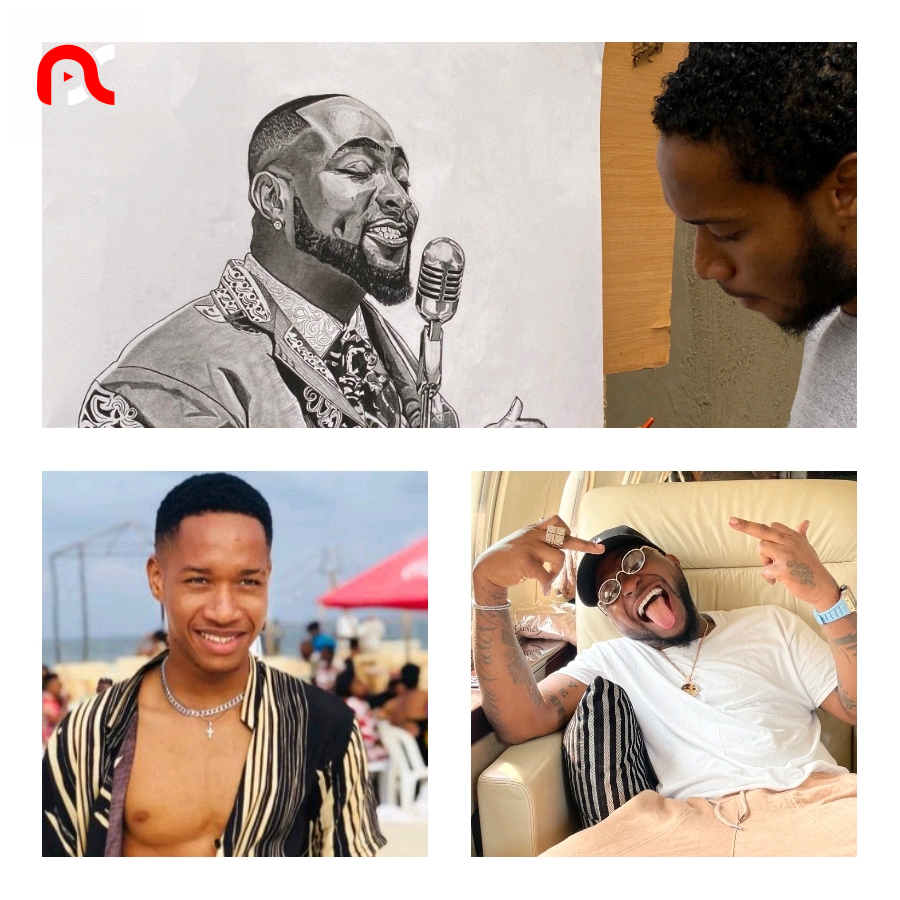 Reactions As A Young Nigerian Artist Carves Out A Perfect Picture Of Davido
