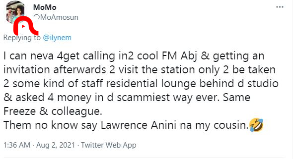 Lady drags Daddy Freeze and his colleagues over alleged scam attempt