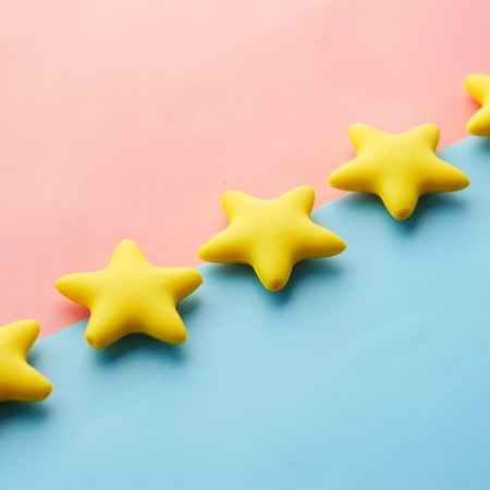 yellow star shaped plastic toy
