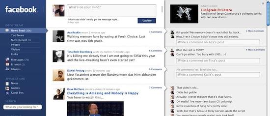 Facebook Design Entwurf von information Architects