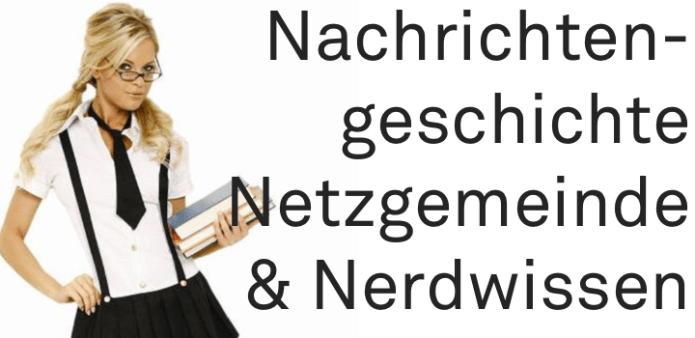 Nachrichtengeschichte, Netzgemeinde & Nerdwissen | morgenlinks