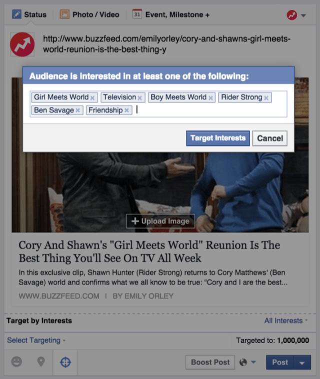 Facebook Zielgruppen Ansprache anhand von Interessen