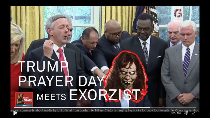 Trump Prayer Day Video Meets THE EXORZIST [Remix]