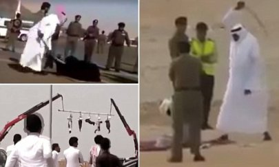 BEHEADING IN SAUDI - FROM ITV PROGRAME SAUDI UNCOVERED