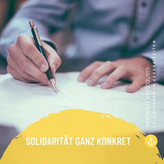 solidarität ganz konkret - Solidarität konkret