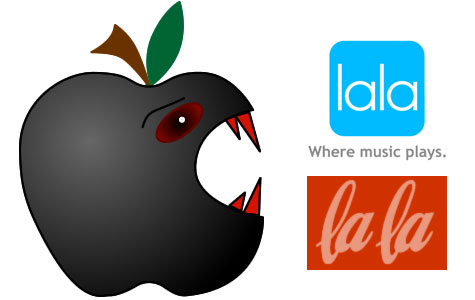 lala.com original logo apple eats
