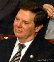 Tom Delay holds back the tears