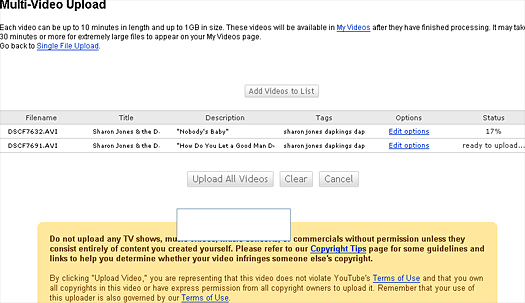 YouTube's new multi video uploader may allow you to go up to 1GB, but it takes forever. Puhleeze