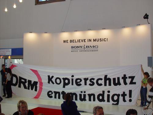 Popkomm Aktion 2007 - Kopierschutz entmündigt!