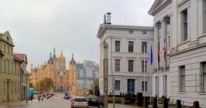 The picture shows the Chancelly of state and the Castle (residence of county parliament), Schwerin, Mecklenburg-Western Pomeraina