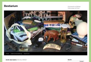 Screenshot der Webseite Markus Bühler's Bestiarium