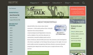 Screenshot der kritischen Monstertalk-Webseite