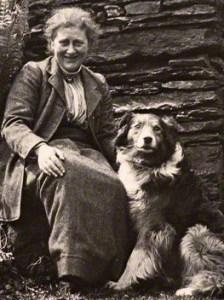 Beatrix Potter mit ihrem Hund