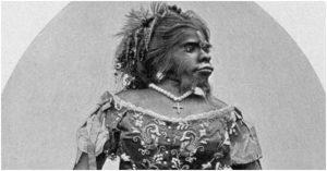 Portrait der Affenfrau