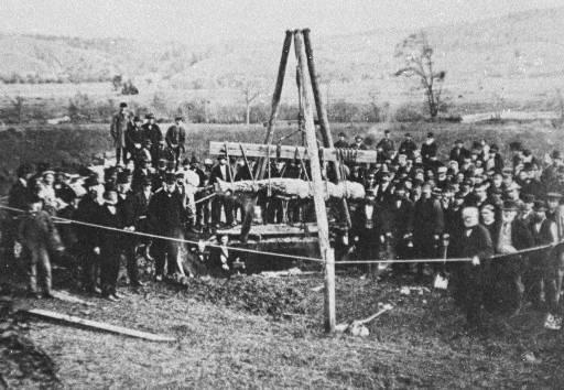 Ausgrabung des Cardiff Giant