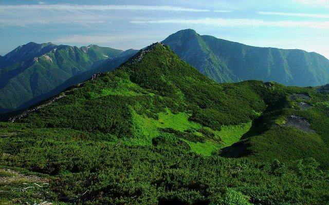 Berge Japan, die ursprüngliche Heimat des Shamanu