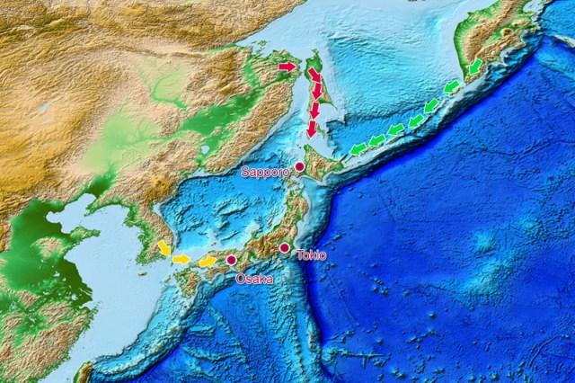 spekulative Besiedlung Japans mit Wölfen