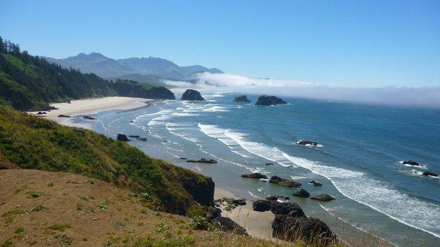 Die Küste Oregons, Ort der Walexplosion
