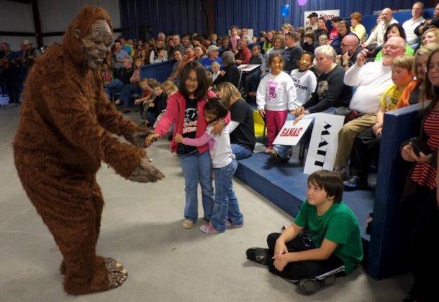 Bigfoot-Kostüm in Knoxville