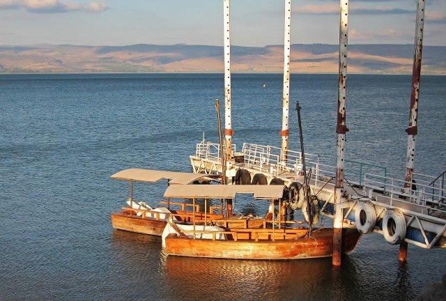 Boote auf dem See Genezareth