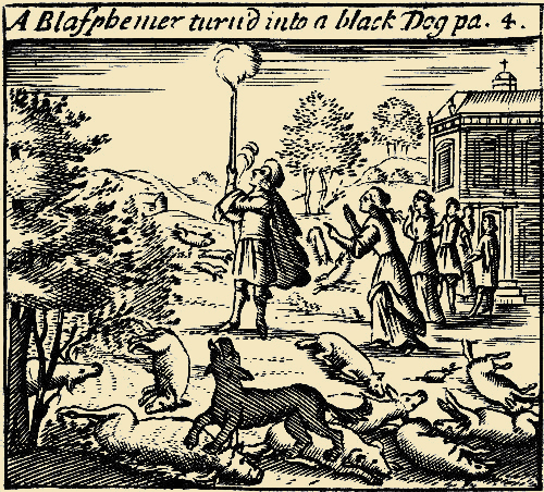Ein Blasphemiker wird zum Phantomhund
