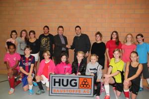 2015.12 Juniorinnen mit Hug Baustoffe