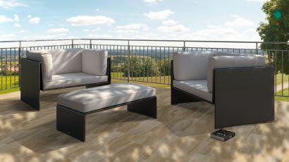 Terrasse mit flexiblem Sandstein