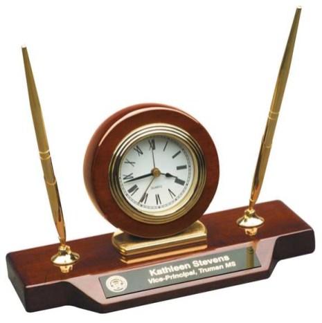 clock pen set gift