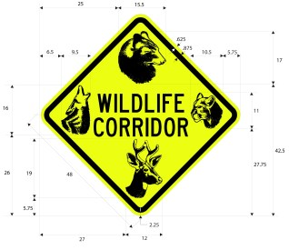 Wildlife Corridor Sign