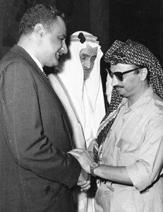 Präsident Abdel Nasser, Saudi-Arabiens König Faisal und PLO-Vorsitzender Jassir Arafat 1970.