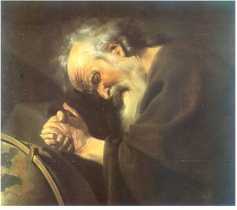 Heraklit, Gemälde von Johan Moreelse (1602–1634), Wikipedia, Gemeinfrei