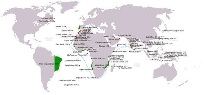 Das heutige Brasilien wurde 1500 von den Eroberern aus Portugal erreicht.