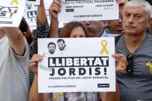 Freiheit für Jordi Cuixart Jordi Sanchez. (Foto: Krystyna Schreiber)