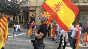 Befürworter und Gegner der Unabhängigkeit Kataloniens sind auf den Straßen. (Foto: Krystyna Schreiber)