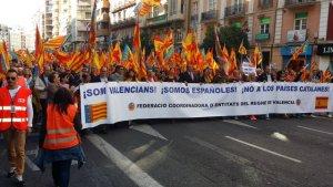 Somos Valencians! Somos Espanoles! No a los paises catalanes! Foto H. Allemann