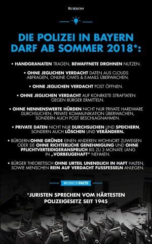 Polizeiaufgabengesetz in Bayern 2018. (Foto: Rubikon)