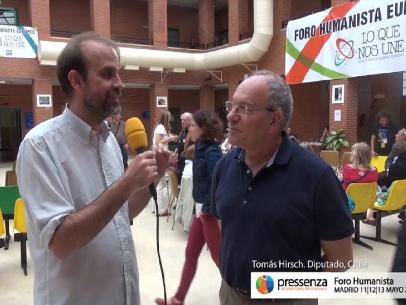 """Tomás Hirsch: """"Die Sozialdemokratie befindet sich in einer Krise, weil sie eine schlechte Kopie der Rechten ist!"""""""