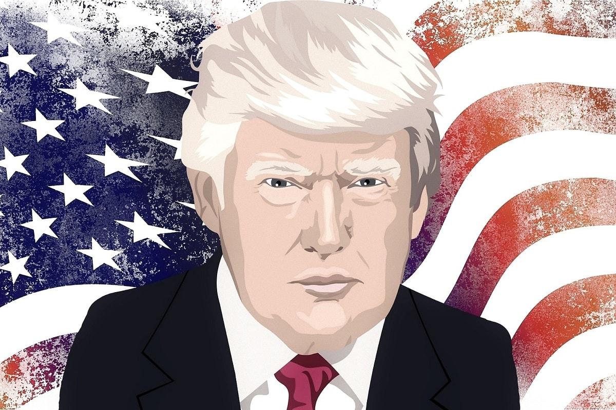 Donald Trump vor einer US-Flagge. (Illustration: Crazygoat, Pixabay.com; Creative Commons CC0)