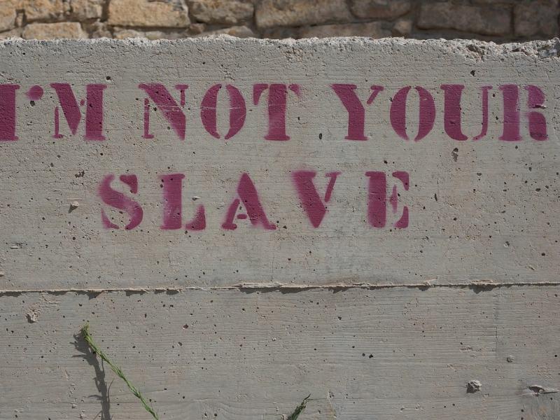I am not your slave. (Foto: AHTmedia, Pixabay.com, Creative Commons CC0)