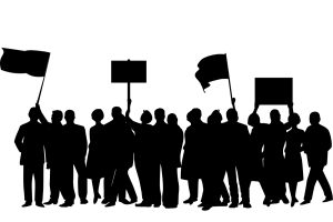 Protest und Streik. (Illustration: OpenClipart-Vectors, Pixabay.com, Creative Commons CC0)