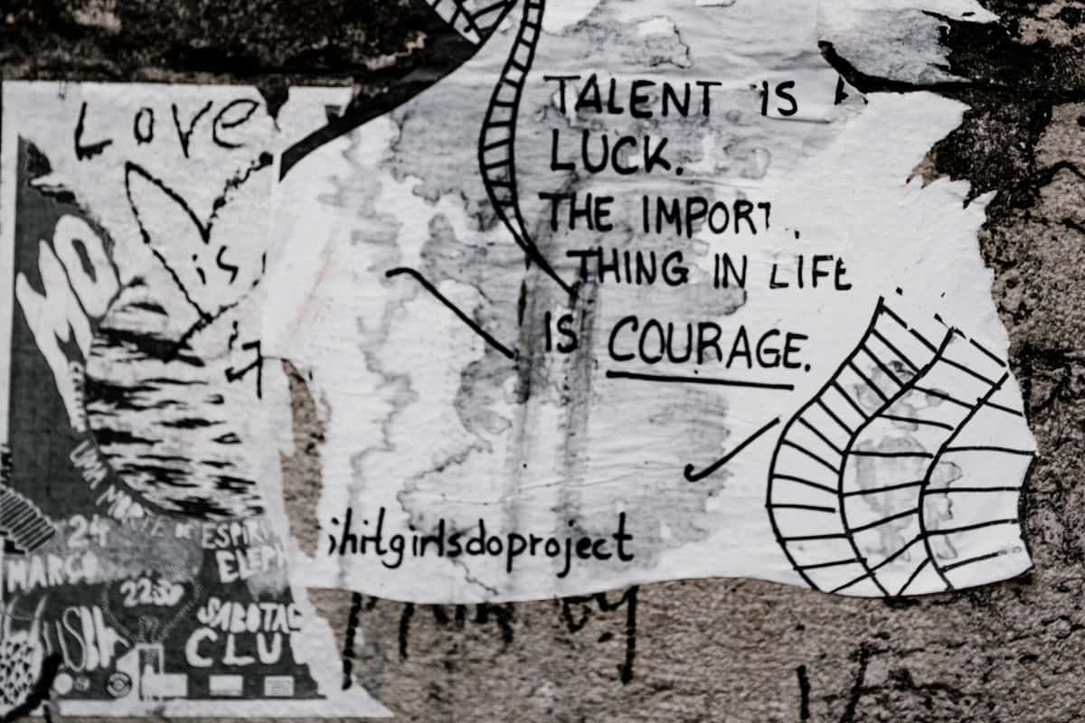 Wallart. Talent is luck. (Foto: Annie Spratt, Unsplash.com)