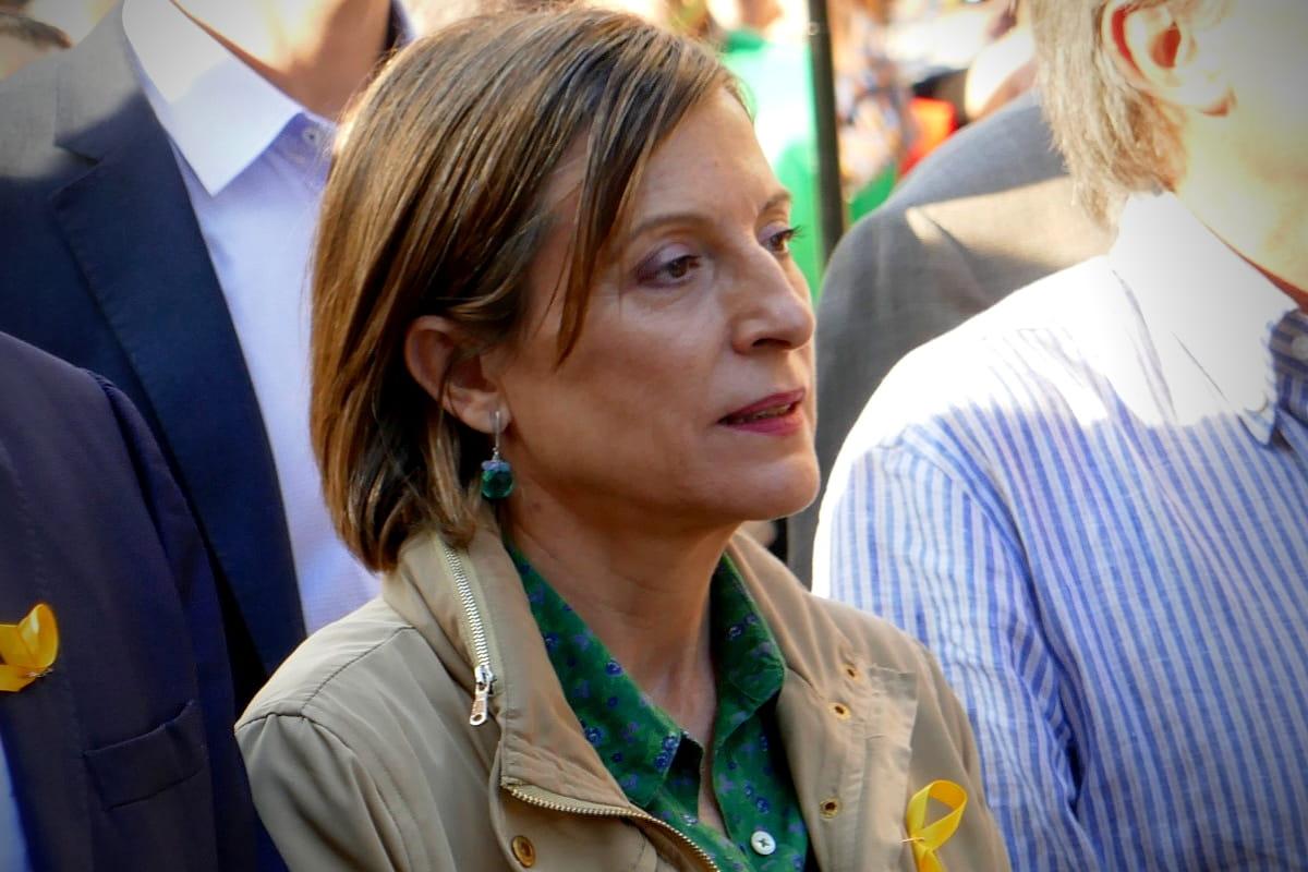 Einsatz für die ideologische Freiheit der Katalanen. Protest Parliamentary Speaker 2017 with Maria Carme Forcadell i Lluís. (Image: Krystyna Schreiber)