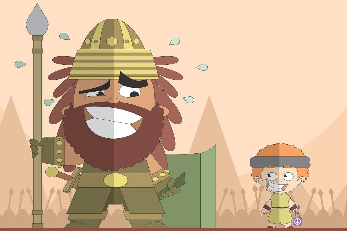 Die Öko-Bewegung als David gegen Goliat. (Illustration mit Material von André Santana, Pixabay.com)